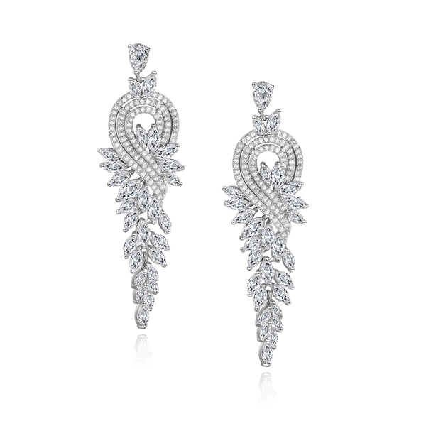Julia Designer Cubic Zirconia Earrings
