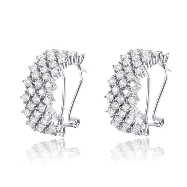Leah Hoop Cubic Zirconia Earrings