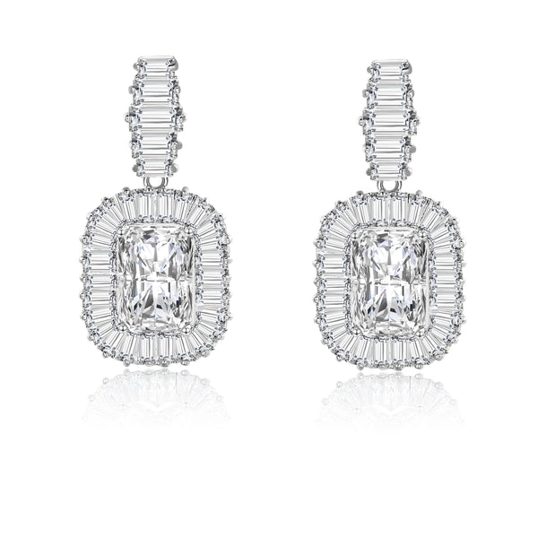 Diana Baguette Cubic Zirconia Earrings