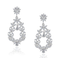 Vivian Dangling Cubic Zirconia Earrings