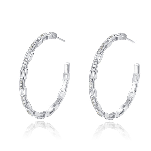 Dina Silver Hoops