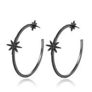Kinsley Black Hoops