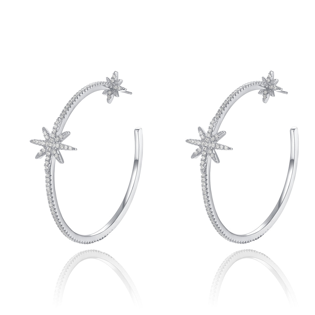 Kinsley Silver Hoops