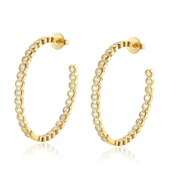 Evelyn Crystal Hoops