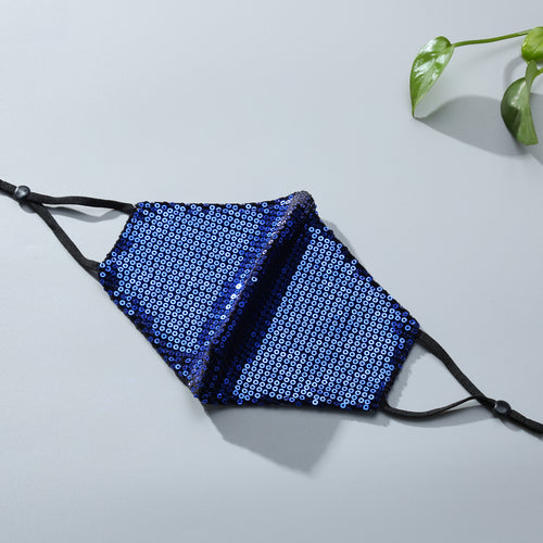 STELLA SEQUIN FACE MASK - ROYAL BLUE