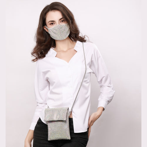 JESSIE GREY AB 2 STRAP CROSS BODY PURSE WITH *FREE MATCHING DESTINY MASK