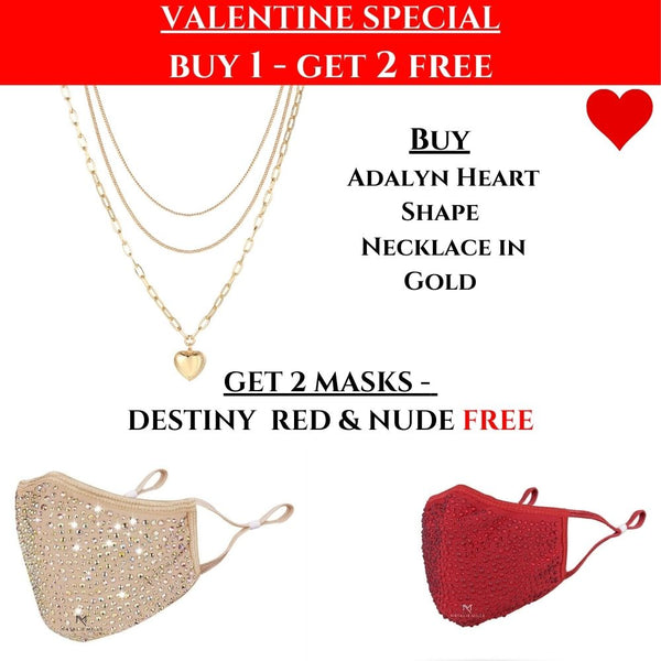 VALENTINES SPECIAL: Adalyn Heart Necklace & 2 Destiny Masks FREE!