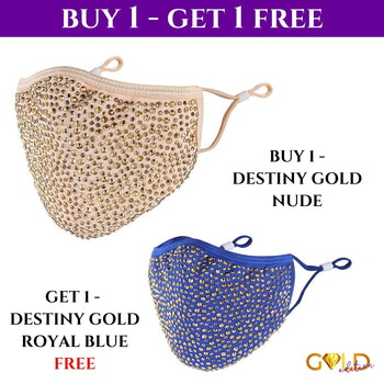 GOLD DESTINY COMBO - BUY 1 GOLD NUDE, GET 1 FREE DARK BLUE GOLD DESTINY