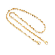 18ct GOLD GLORIA MASK CHAIN - FLAT CABLE STYLE