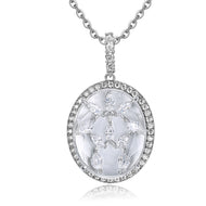 Bridget Clear Stone with CZ Backing Pendant