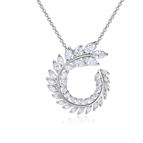 Ella Pendant in White Crystal