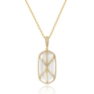 Audra Gold Pendant with Clear Crystal Stone