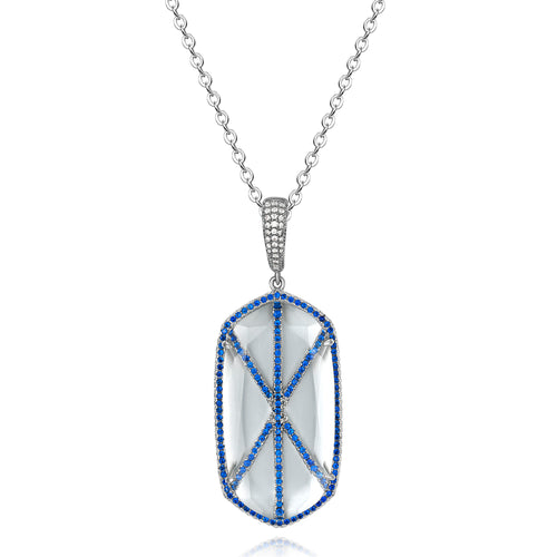 Audra Pendant with Blue Crystal Stone