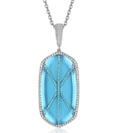 Audra Pendant with Light Blue Crystal