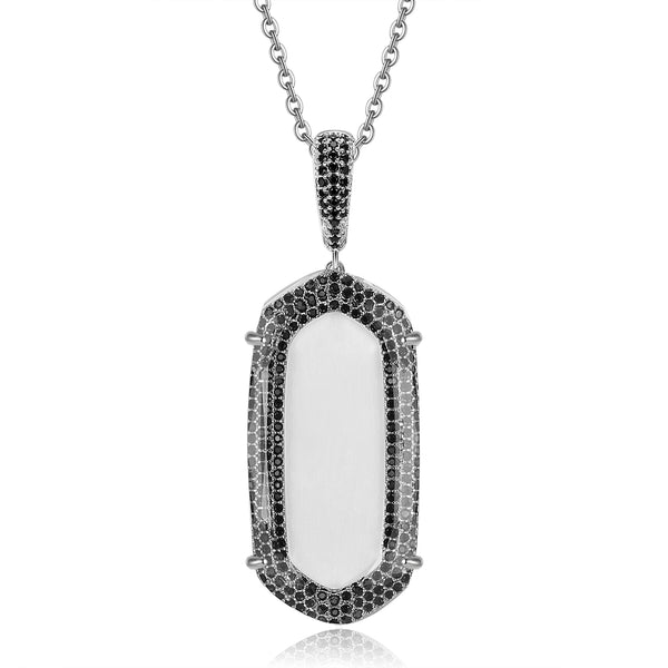 Maya Pendant with Clear Crystal & Black Cubic Zirconia