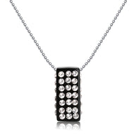 Michelle Black Floating Crystal Pendant