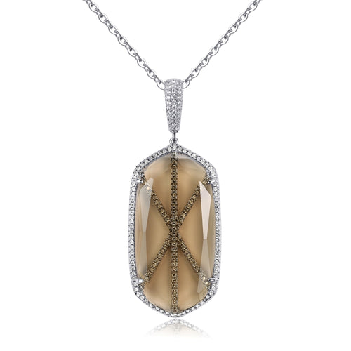 Audra Pendant with Bronze Crystal