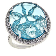 Kylie Ring in Aquamarine