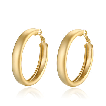 Holly Hoop Matt Statement Earrings (Large)