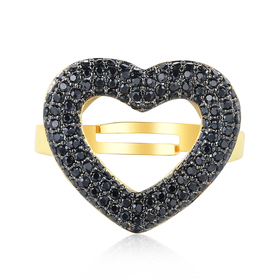 Patricia Ring with Black Stones