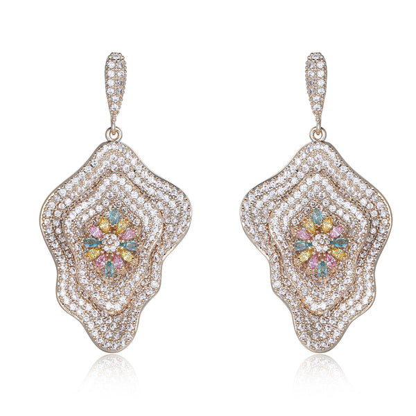 Lulu Flower Shaped Designer Earrings