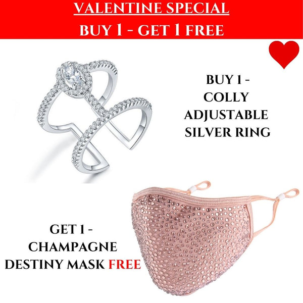 VALENTINES SPECIAL: Colly Ring & Champagne Mask