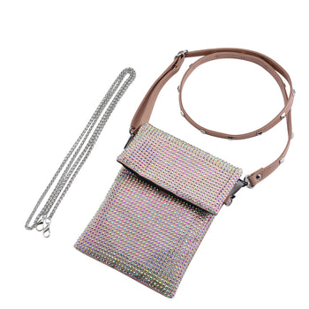 JESSIE NUDE 2 STRAP CROSS BODY PURSE WITH *FREE MATCHING DESTINY MASK