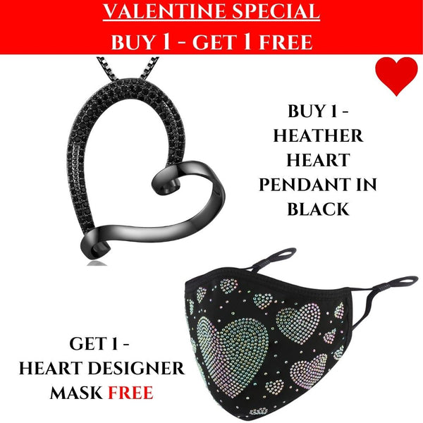 VALENTINES SPECIAL: Heather Heart Necklace & Heart Mask!