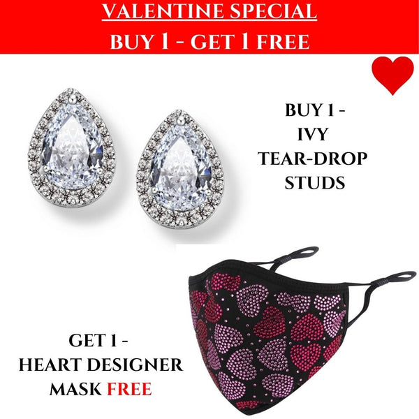 VALENTINES SPECIAL: Ivy Studs & Heart Mask!