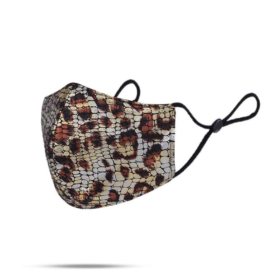 BAILEY ANIMAL PRINT FACE MASK - LEOPARD