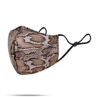 BAILEY ANIMAL PRINT FACE MASK - PYTHON