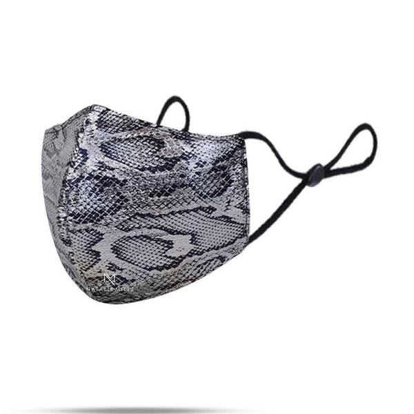 BAILEY ANIMAL PRINT FACE MASK - SILVER COMBO