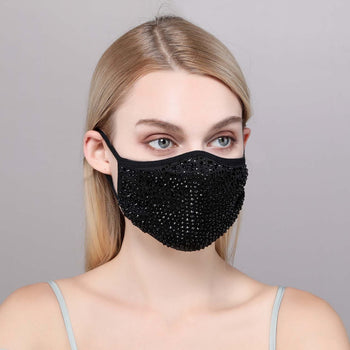 DESTINY CRYSTAL FACE MASK - BLACK
