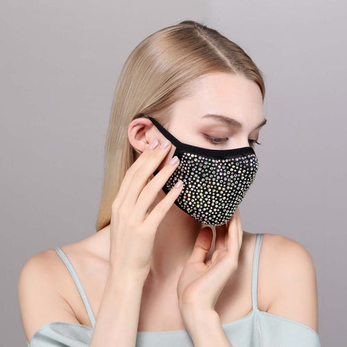 DESTINY CRYSTAL FACE MASK - BLACK & WHITE