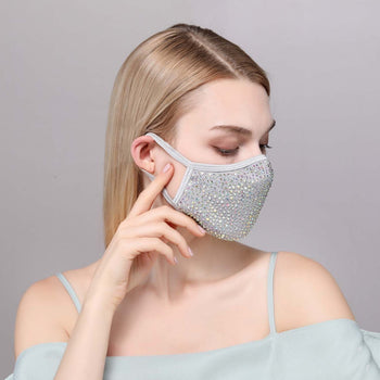 DESTINY CRYSTAL FACE MASK - GREY