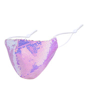 Misty Lilac Iridescent Sequin Mask