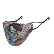 Misty Rainbow Iridescent Sequin Mask