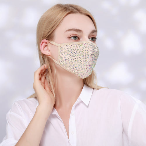 DESTINY CRYSTAL FACE MASK - NUDE