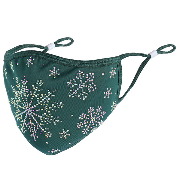 CHRISTMAS COLLECTION - DESIGNER SNOWFLAKE IN EMERALD GREEN