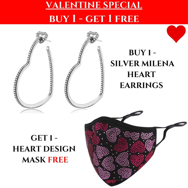 VALENTINES SPECIAL: Milena Heart Earrings & Heart Mask