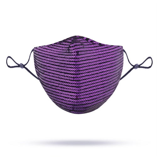 STELLA SEQUIN FACE MASK - PURPLE
