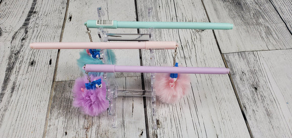Flying Unicorn Fluffball Pens