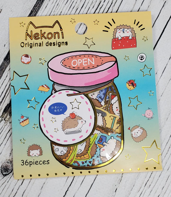 Kawaii Hedgehog Sticker Flakes