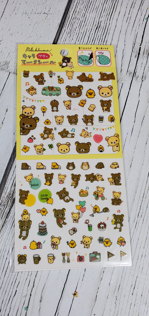 Travelling Bear Bullet Journal/ Planner Stickers
