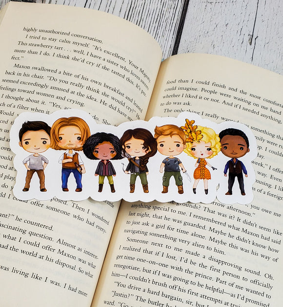 The Hunger Games Characters Diecut Bookmark