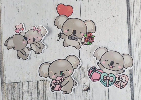 Sparkly Koala Stickers - BENEFITS AUSTRALIA - bibliophileprints