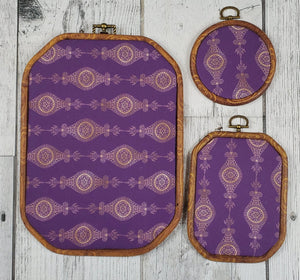 Deco/Roaring 20's Pin Hoop - Purple and Gold Pattern