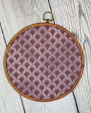 Deco/Roaring 20's Pin Hoop - Maroon and Silver Pattern