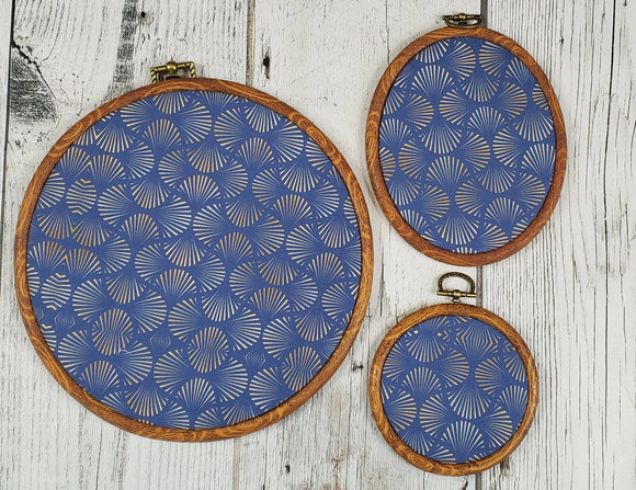 Deco/Roaring 20's Pin Hoop - Navy and Gold Pattern - bibliophileprints
