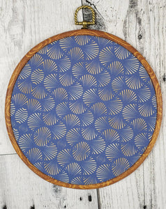 Deco/Roaring 20's Pin Hoop - Navy and Gold Pattern